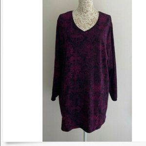 Catherines Tunic Knit Top sz 1X